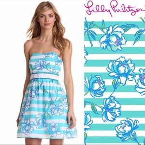 Lilly Pulitzer Langley Dress Tossing The Line Blue